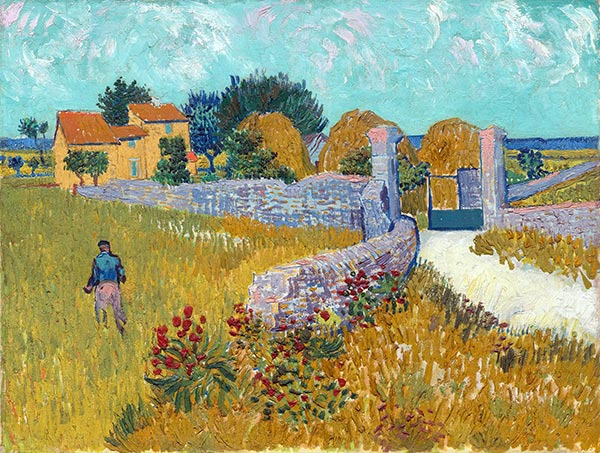 Farmhouse in Provence, 1888 | Vincent van Gogh | Painting Reproduction