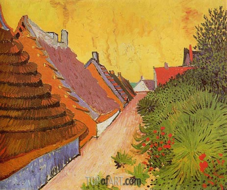 Street in Saintes-Maries, 1888 | Vincent van Gogh | Painting Reproduction