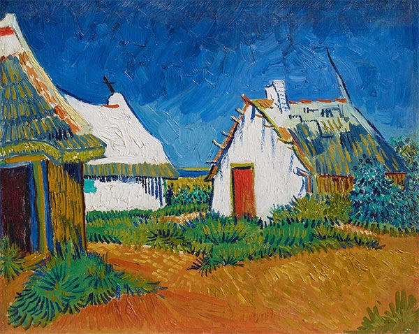 Three White Cottages in Saintes-Maries, Early June | Vincent van Gogh | Painting Reproduction