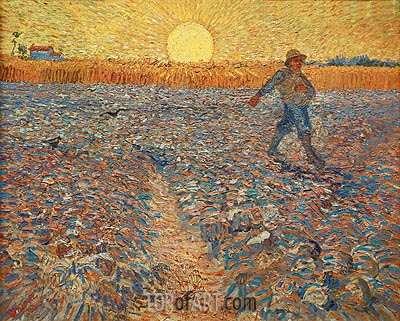 The Sower, 1888 | Vincent van Gogh | Gemälde Reproduktion