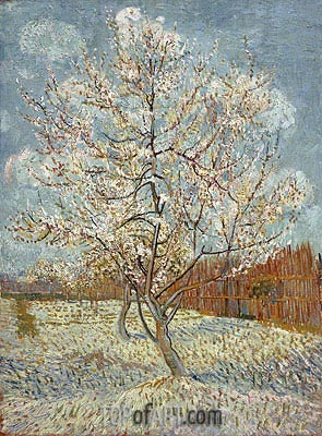 Peach Tree in Blossom, April-May | Vincent van Gogh | Painting Reproduction