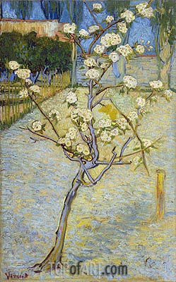 Blossoming Pear Tree, 1888 | Vincent van Gogh | Gemälde Reproduktion