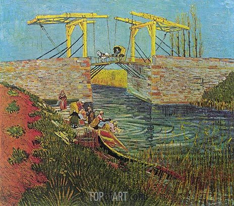 The Langlois Bridge at Arles, April 1888 | Vincent van Gogh | Painting Reproduction