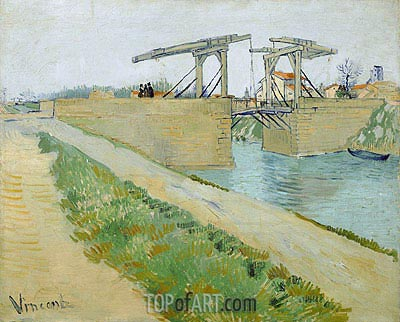 The Langlois Bridge at Arles with Road Alongside, 1888 | Vincent van Gogh | Gemälde Reproduktion