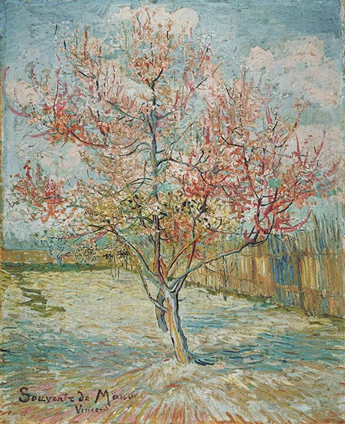 Pink Peach Tree in Blossom (Reminiscence of Mauve), 1888 | Vincent van Gogh | Painting Reproduction