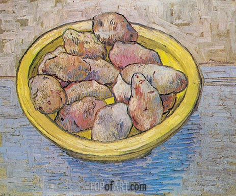 Still Life: Potatoes in a Yellow Dish, March 1888 | Vincent van Gogh | Painting Reproduction