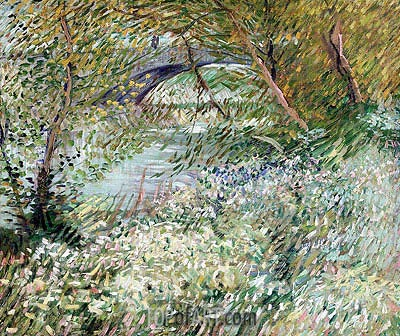 Banks of the Seine with Pont de Clichy in Spring, June 1887 | Vincent van Gogh | Painting Reproduction