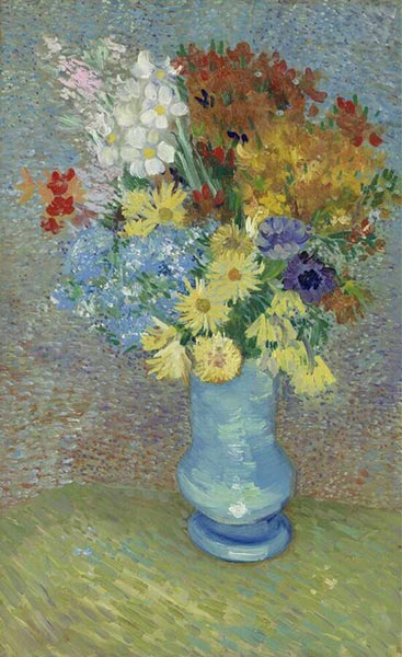 Vase with Daisies and Anemones, Summer 188 | Vincent van Gogh | Gemälde Reproduktion
