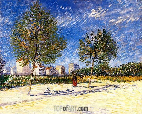 The Outskirts of Paris, 1887   Vincent van Gogh   Painting Reproduction