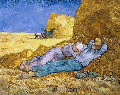Noon (Rest from Work), 1890 | Vincent van Gogh | Painting Reproduction
