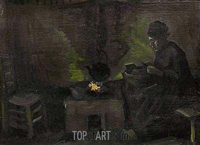 Peasant Woman by the Hearth, c.1885 | Vincent van Gogh | Gemälde Reproduktion