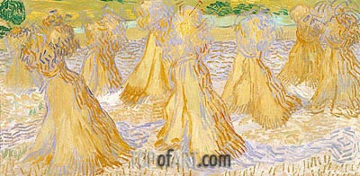 Sheaves of Wheat, 1890 | Vincent van Gogh | Painting Reproduction