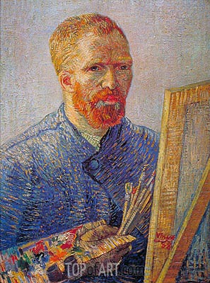 Self Portrait at the Easel, c.1887/88   Vincent van Gogh   Painting Reproduction