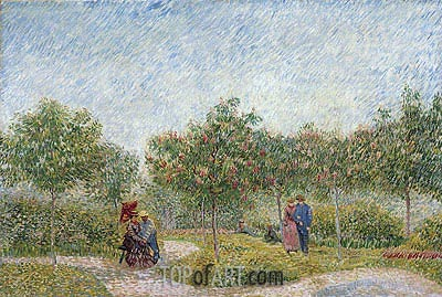 Garden with Courting Couples: Square Saint-Pierre, 1887 | Vincent van Gogh | Gemälde Reproduktion