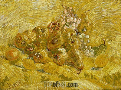 Quinces, Lemons, Pears and Grapes, 1887 | Vincent van Gogh | Gemälde Reproduktion