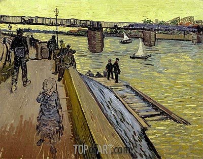 The Bridge Trinquetaille in Arles, 1888 | Vincent van Gogh | Painting Reproduction