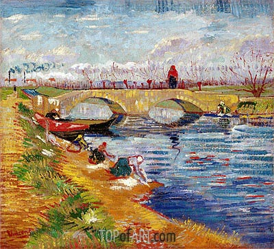 The Gleize Bridge over the Vigneyret Canal, near Arles, 1888 | Vincent van Gogh | Painting Reproduction