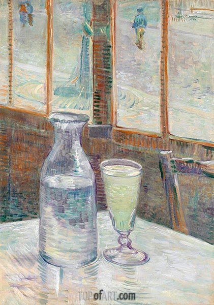 Cafe Table with Absinthe, 1887 | Vincent van Gogh | Painting Reproduction