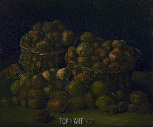Baskets of Potatoes, 1885 | Vincent van Gogh | Painting Reproduction