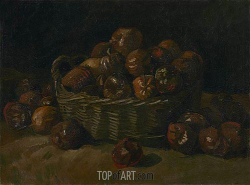 Basket of Apples, 1885 | Vincent van Gogh | Painting Reproduction