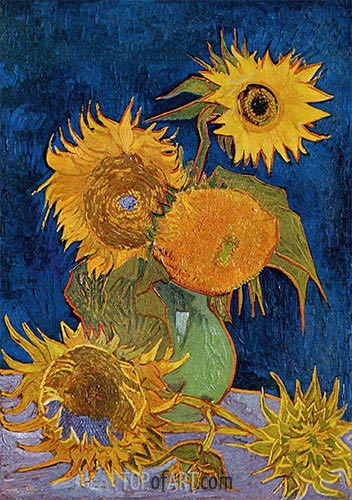 Six Sunflowers, 1888 | Vincent van Gogh | Painting Reproduction