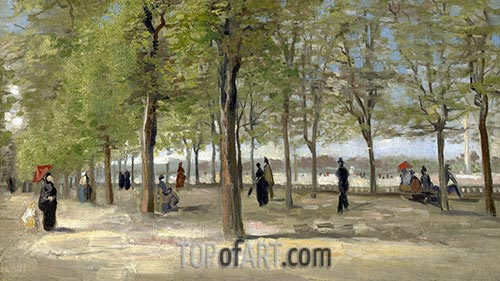 Terrace in the Luxembourg Gardens, 1886 | Vincent van Gogh | Painting Reproduction