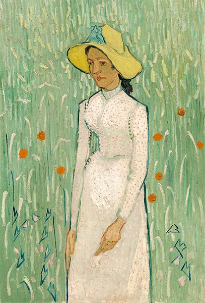 Girl in White, 1890 | Vincent van Gogh | Painting Reproduction