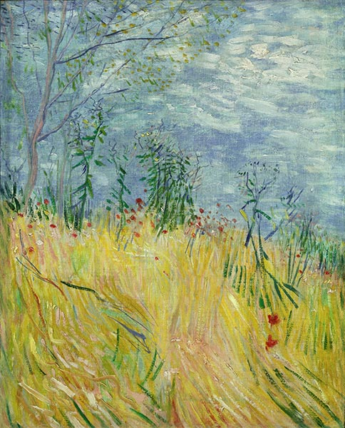 Edge of Wheat Field with Poppies, 1887 | Vincent van Gogh | Painting Reproduction