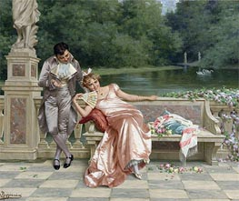 The Flirtation, Undated by Vittorio Reggianini | Painting Reproduction