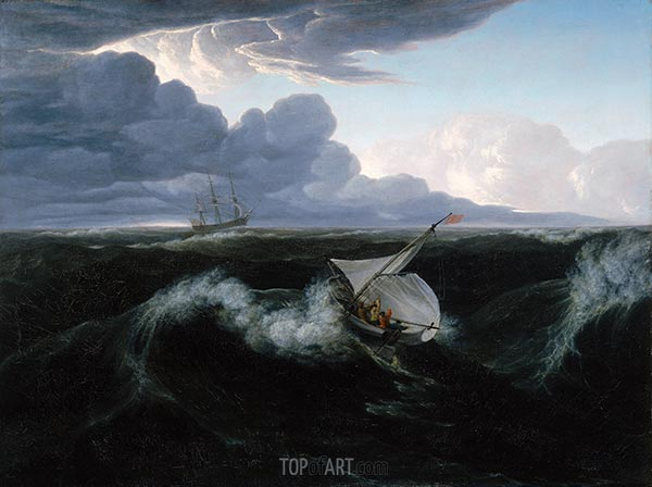 Rising of a Thunderstorm at Sea, 1804 | Washington Allston | Painting Reproduction