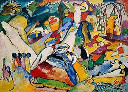 Sketch for 'Composition II', c.1909/10 by Kandinsky | Painting Reproduction