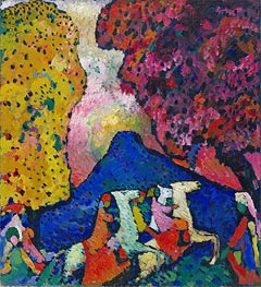 Blue Mountain | Kandinsky | Painting Reproduction
