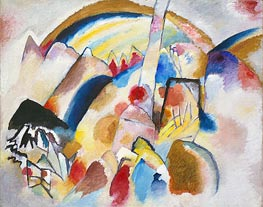 Landscape with Red Spots, No. 2, 1913 by Kandinsky | Painting Reproduction