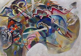 Painting with White Border, 1913 by Kandinsky | Painting Reproduction