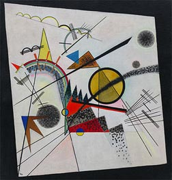 In the Black Square, 1923 by Kandinsky | Painting Reproduction