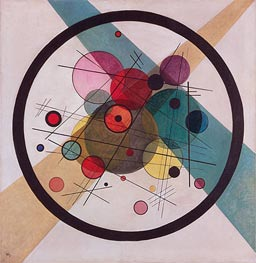 Circles in a Circle | Kandinsky | Painting Reproduction