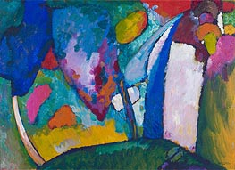 The Waterfall, 1909 von Kandinsky | Gemälde-Reproduktion