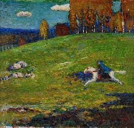 The Blue Rider, 1912 by Kandinsky | Painting Reproduction