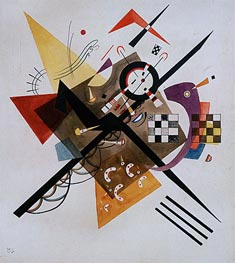 On White II, 1923 by Kandinsky | Painting Reproduction