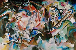 Composition No. 6, 1913 by Kandinsky | Painting Reproduction