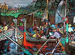 Song of the Volga, 1906 by Kandinsky | Painting Reproduction
