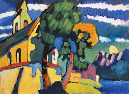 Bavarian Landscape with a Church | Kandinsky | Painting Reproduction