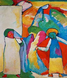 Improvisation No. 6 (Africans) | Kandinsky | Painting Reproduction