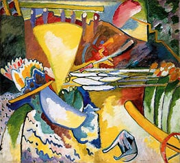 Improvisation 11, 1910 by Kandinsky | Painting Reproduction