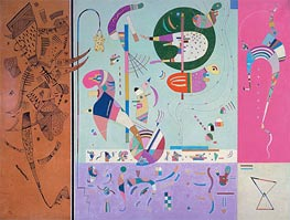 Various Parts, 1940 by Kandinsky | Painting Reproduction