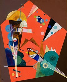 Tension in Red, 1926 by Kandinsky | Painting Reproduction