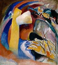 Study for Painting with White Form, 1913 by Kandinsky | Painting Reproduction