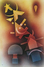 From Cool Depths, 1928 by Kandinsky | Painting Reproduction