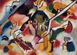 Sketch for Deluge I, 1912 by Kandinsky | Painting Reproduction