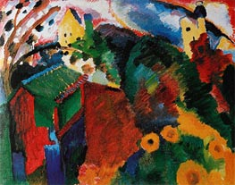 Murnau - Garden I, 1910 by Kandinsky | Painting Reproduction